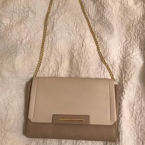 Tan and beige purse